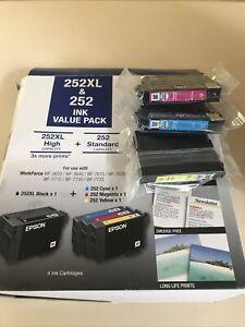 Epson 252 Ink Cartridges for WorkForce 3620 Printer - Cyan/Magenta/Yellow