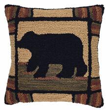 "Park Designs Adirondack Bear 18"" hooked Pillow Cover"