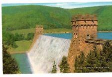 Derbyshire - Derwent Reservoir, The Dam - Vintage Postcard