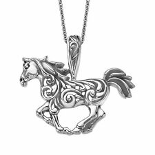 Kabana Horse Scroll Pendant in Sterling Silver