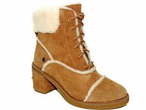 UGG Women's Esterly Genuine Shearling Boots Chestnut Size 5 M
