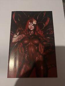 Gwenom Vs Carnage #1 (2021) 2nd Print Inhyuk Lee Virgin Variant Cover Marvel
