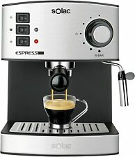 Solac CE4480 Espresso Machine à Café 19 BAR Vaporisateur 850 W 1.25 LT Acier