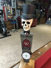 *New* Taxman Brewery Skull and Tophat Beer Tap Handle