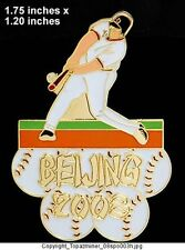 OLYMPIC PIN Beijing China 2008 SPORT BASEBALL GOLD HARD