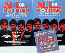 SMALL FACES ALL OR NOTHING MUSICAL 2017 TOUR FLYERS & COASTER CAMBRIDGE ETC