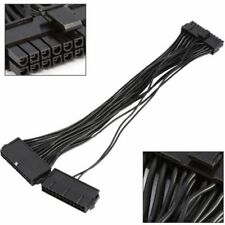 Dual PSU Power Supply 24 pin ATX Motherboard Mainboard Adapter Connector Cable
