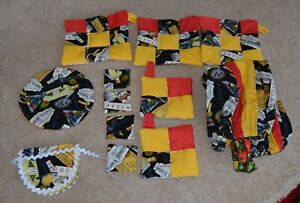 Gee's Bend Outsider Folk Art QUILTED LOT OP ITEMS AFRICAN AMERICAN SIGNED