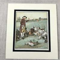 Antique Print Victorian Dogs Puppies Boxer Bulldog Terrier Old Childrens Story