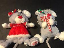 Fisher Price Puffalumps Christmas Plush White Late 80s Lot Of 2