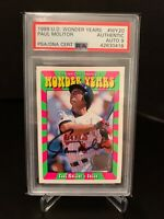 PSA Authentic 1999 UD Wonder Years PAUL MOLITOR Graded On Card Autograph. $HOF$