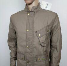 BARBOUR Giacca Da Uomo COMANDANTE Tan Cerato Cappotto Cotone Harrington in velluto a coste XL Nuovo
