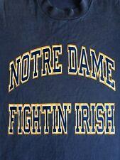 New listing Vintage 90's Blue Notre Dame University T- Shirt Size Large Fighting Irish