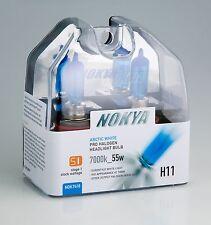 Nokya Headlights H11 55WATT 7000k ARCTIC WHITE NOK7418 Stage 1 NEW