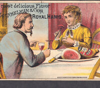 19th Century Chas Counselman Royal Ham Chicago 1800's Food Victorian Trade Card