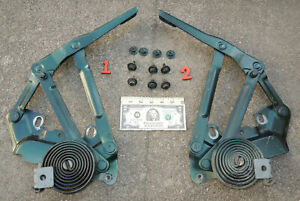 Nice Set 1994 to 2001 Dodge Ram 1500 2500 Truck Hunter Green PG8 Hood Hinges L&R