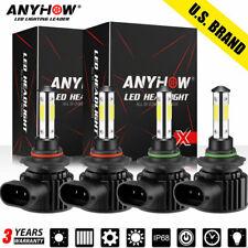4x 90059006 Led Combo Headlight Kit 6000k White Cree Cob Bulbs High Amp Low Beam
