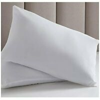 Luxury Hotel Quality Duck Feather Down Pillow Pair 13.5 Tog Soft Hypoallergenic