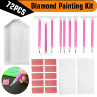 US 5D Diamond Painting Tools Kit DIY Embroidery Painting Accessories Set  z