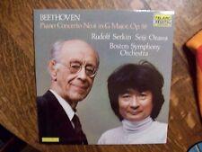 BEETHOVEN Rudolf Serkin Seiji Ozawa  TELARC AUDIOPHILE LP - NM - NICE!