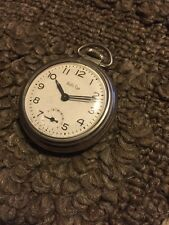 1967 WESTCLOX BULLS EYE Mechanical wind Dollar Pocket Watch,
