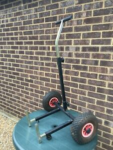 2 Wheel Fishing Seat Box Trolley - Removable Wheels, Fully Adjustable