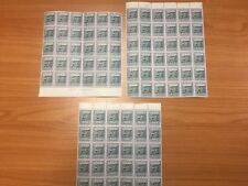 1940 New Zealand Waitangi Treaty 3 Sheets of 30 MUH Stamps