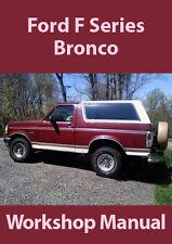 FORD BRONCO WORKSHOP MANUAL: 1980-1995
