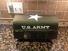 Marx  Military Truck Canopies U.S. ARMY , O D Green canopy white print