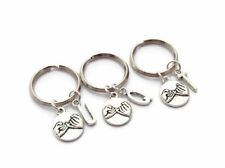 Personalized Set of Three (3) Pinky Swear Promise w/ Initials Keychains