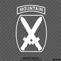 10th Mountain Division Light Infantry Vinyl Decal Sticker Army - Choose Color