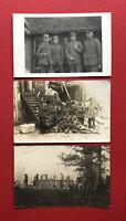 3 x Militär Foto AK 1. WK Deutsche Soldaten im Felde Frankreich Russland?( 62138