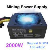 New 2000W ATX Gold Mining Power Supply SATA IDE 8 GPU suits for ETH BTC Ethereum