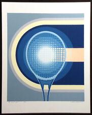 """Richard Gilbert """"The Sweet Spot"""" Hand Signed Serigraph Fine Art tennis racket"""