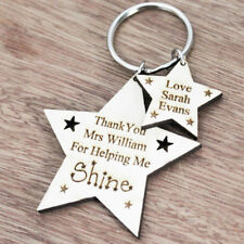 Personalised Gifts For Teacher Teaching Assistant Nursery School Keyring Present