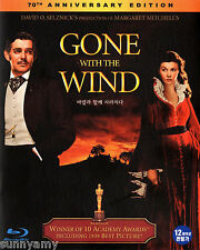 Gone with the Wind - Clark Gable Vivien Leigh - 70th Anniversary Blu ray (NEW)