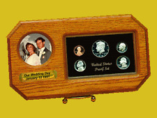 C-115 / Oak Wedding Day Photo Proof Set Coin Holder