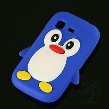 Samsung Galaxy Pocket S5300 Soft Silikon Case Schutz Hülle Etui Pinguin Blau 3D
