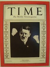 ADOLF HITLER TIME MAGAZINE DECEMBER 21 1931 COVER PAGE PHOTO ON 4 X 6 GLOSSY