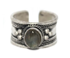 Labradorite ring healing ring Silver ring Nepal ring Tibetan ring Boho Ring B