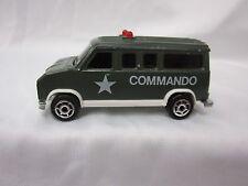 Majorette Military Army Green Fourgon Commando Van #279-234 1/65 France Rare!