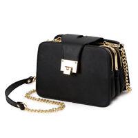 Women New Fashion Chain Strap Flap Design Clutch Shoulder Bag With Metal Buckle
