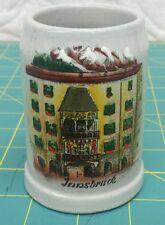 Vintage Miniature Feinsteinzeug Germany Stoneware  Mug w/ hand painted INNSBRUCK