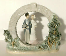 Vtg. Lladro Bermuda Wedding Moongate Circle Arch + Bride & Groom #7503 #4808 Nos