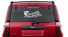 "FAMOUS STARS and STRAPS Family 12"" Decal Sticker Window"