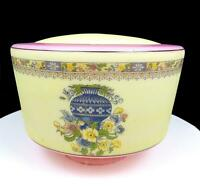 """VICTORIAN SATIN GLASS FLOWER VASE PINK AND YELLOW 6 1/2"""" SHADE 3 7/8"""" FITTER"""