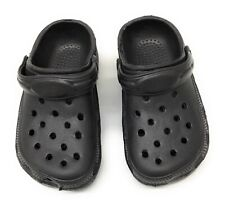 New Unisex Water Shoes Size 1 Black Sandals Clogs Slip On Summer Pool