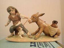 Lladro Figurine, Stubborn Donkey, #5178 With Original Box