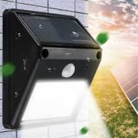 Lampada faretto luce solare giardino 12 LED terrazzo esterno sensore movimento