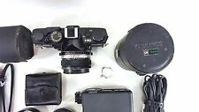 Olympus OM-1n SLR Film Camera with 50mm f/1.4 +135mm + EXTRA Lens, Filters